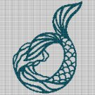 MERMAID 2 CROCHET AFGHAN PATTERN GRAPH
