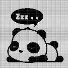 SLEEPING PANDA CROCHET AFGHAN PATTERN GRAPH