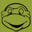 TEENAGE NINJA TURTLE FACE 2 CROCHET AFGHAN PATTERN GRAPH