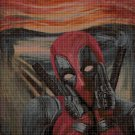 Deadpool scream style cross stitch pattern in pdf DMC