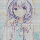 Anime girl pastel cross stitch pattern in pdf DMC