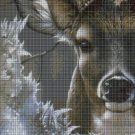 Deer head 3 cross stitch pattern in pdf DMC