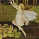 Fairy lake cross stitch pattern in pdf DMC