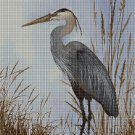 Heron cross stitch pattern in pdf DMC