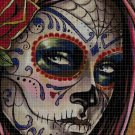 Sugar Skull 2 cross stitch pattern in pdf DMC