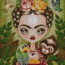 Frida - cross stitch pattern in pdf DMC