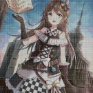 Anime girl 2 cross stitch pattern in pdf DMC