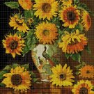 Sunflowers cross stitch pattern in pdf DMC
