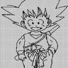 Little Son Goku 3 silhouette cross stitch pattern in pdf