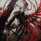 Anime dark angel cross stitch pattern in pdf