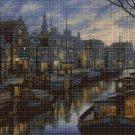 Canal life cross stitch pattern in pdf DMC