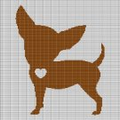 CHIHUAHUA LOVE CROCHET AFGHAN PATTERN GRAPH