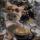 Animal christmas 5 cross stitch pattern in pdf DMC