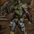 Boba Fett cross stitch pattern in pdf DMC