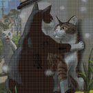 Cat lifestyles 4 cross stitch pattern in pdf DMC