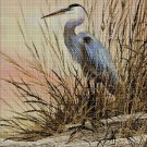Crane cross stitch pattern in pdf DMC