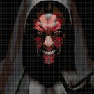 Dart Maul cross stitch pattern in pdf DMC