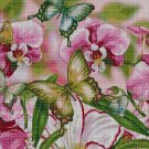Butterflies and orhids 2 cross stitch pattern in pdf DMC