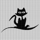 BLACK CAT 3 CROCHET AFGHAN PATTERN GRAPH