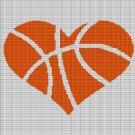 BASKETBALL HEART CROCHET AFGHAN PATTERN GRAPH