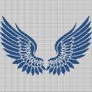 BLUE ANGEL WINGS CROCHET AFGHAN PATTERN GRAPH