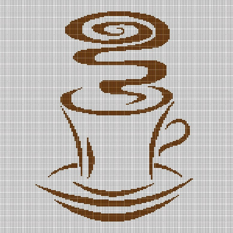 CUP OF COFFEE 2 CROCHET AFGHAN PATTERN GRAPH
