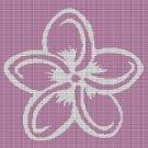 FLOWER 5 CROCHET AFGHAN PATTERN GRAPH