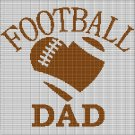 FOOTBALL DAD CROCHET AFGHAN PATTERN GRAPH2