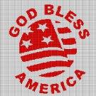 GOD BLESS AMERICA CROCHET AFGHAN PATTERN GRAPH