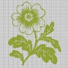 GREEN FLOWER 3 CROCHET AFGHAN PATTERN GRAPH