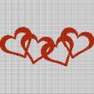 HEARTS 4 CROCHET AFGHAN PATTERN GRAPH