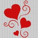 HEARTS 5 CROCHET AFGHAN PATTERN GRAPH