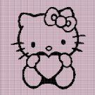 HELLO KITTY WITH HEART CROCHET AFGHAN PATTERN GRAPH