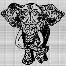 INDIAN ELEPHANT CROCHET AFGHAN PATTERN CHART