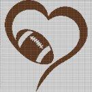 LOVE FOOTBALL 3 CROCHET AFGHAN PATTERN GRAPH