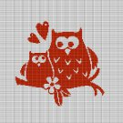 LOVE OWL 2 CROCHET AFGHAN PATTERN GRAPH