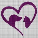 LOVE PET 2 CROCHET AFGHAN PATTERN GRAPH