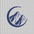 MOUNTAINS IN BLUE CROCHET AFGHAN PATTERN GRAPH