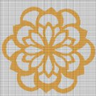 ORANGE FLOWER CROCHET AFGHAN PATTERN GRAPH