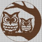 OWLS ON BRANCH CROCHET AFGHAN PATTERN GRAPH