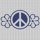 PEACE WITH FLOWERS CROCHET AFGHAN PATTERN GRAPH