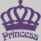 PRINCESS CROCHET AFGHAN PATTERN GRAPH