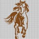 RUNNING HORSE 3 CROCHET AFGHAN PATTERN GRAPH