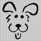 SIMPLE DOG HEAD CROCHET AFGHAN PATTERN GRAPH