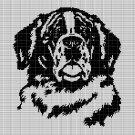 ST. BERNARD DOG CROCHET AFGHAN PATTERN GRAPH