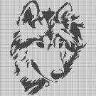 WOLF HEAD 7 CROCHET AFGHAN PATTERN GRAPH