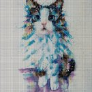 Cat art cross stitch pattern in pdf DMC