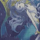 Anime mermaid cross stitch pattern in pdf DMC