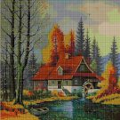 At the lake cross stitch pattern in pdf DMC