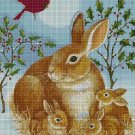 Bunnies in winter 3 cross stitch pattern in pdf DMC